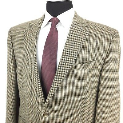 RALPH LAUREN Mens 46R Brown MC Houndstooth 2-Button Wool Sport Coat Jacket