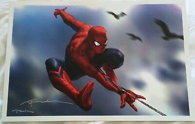 "Andy Park Amazing Spider-Man Marvel Studios Fine Art Print - Signed 13""x19"""