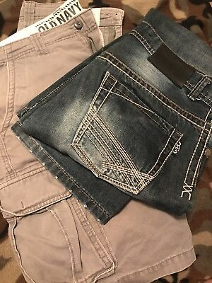 Mens Not of this world jeans NOTW size 31R and Old Navy Cargo shorts size 30.