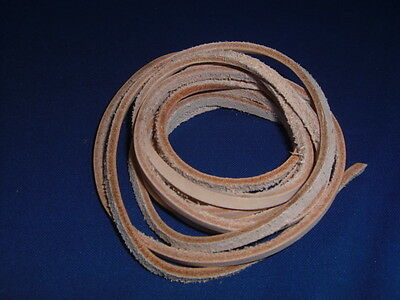 """3/16"""" x 84"""" (Qty 1-4) Vegetable Tanned Leather Lace Strip Bird Toy Part Parrot"""