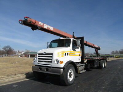 Flatbed! Moffet M5000 -07 Sterling L7500 Cleasby Roofing Conveyor With 41' Boom