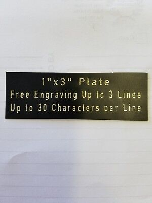 "FREE CUSTOM ENGRAVED 1""x3"" NAME PLATE ART-TROPHIES-GIFT-TAXIDERMY-FLAG CASE"