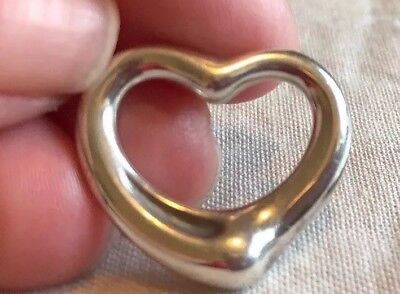 Tiffany And Co. Elsa Perreti Open Heart Large Pendant Sterling Silver 925 Spain