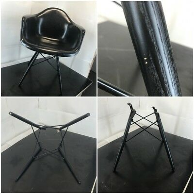 AUTHENTIC - BLACK - Eames - Dowel Base for Herman Miller Armshell Shell Chair.