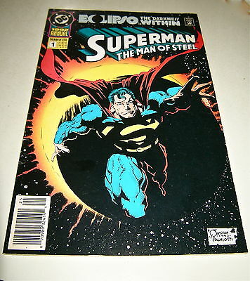 Superman : Man Of Steel Annual #1  Eclipso Darkness Within Dc  1992   Nice!!.