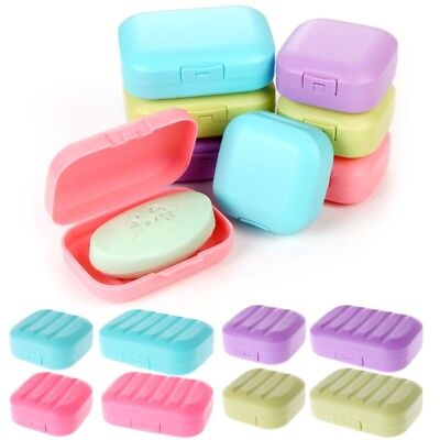 Mini Cute Soap Box Bathroom Dish Plate Case Home Shower Travel Holder Container