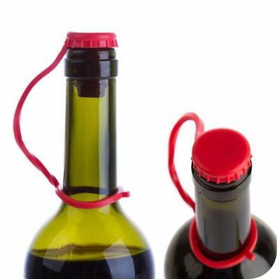 1x Anti-lost Silica Hanging Button Wine Plug Bottle Cap Cover Kitchen Tool 1.8cm