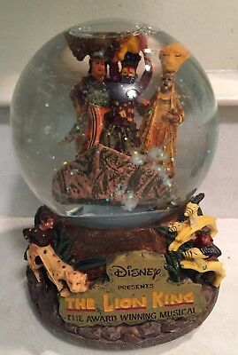 Disney LION KING Award Winning Musical Snow Globe Plays Circle Of Life W/Animals