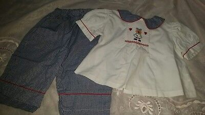24 mth smocked two piece outfit
