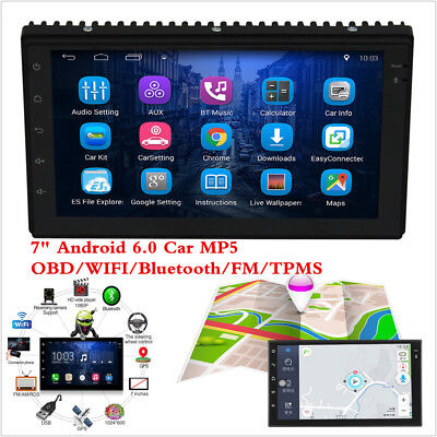 """7"""" 2 DIN Car Radio Stereo MP5 Player Android 6.0 GPS Navigation WIFI RDS TMPS"""