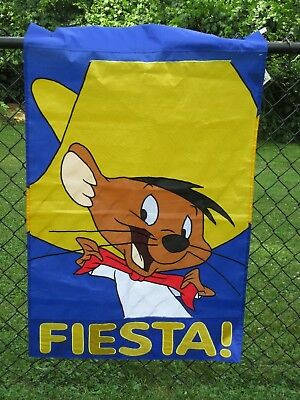 Fiesta!  Speedy Gonzales Looney Tunes Large Flag nwt NCE #49502