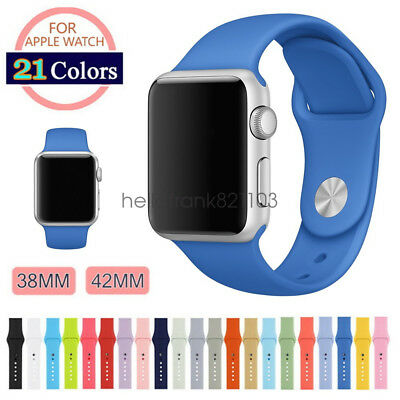 Replacement Soft Silicon Sport Watch Band Strap for Apple Watch iWatch 42mm 38mm