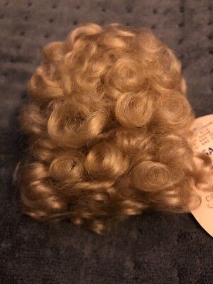 mohair doll blonde hair,wig for dolls100/% natural mohair hair line