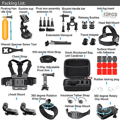For GoPro Hero 8 7 6 5 4 3 2 1 Session Accessories Camera Sport Outdoor Set Kit