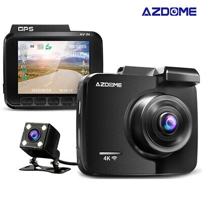 AZDOME GS65H Dual Lens Car DVR Dash Cam Front HD 1080P / Rear 720P Video Camera