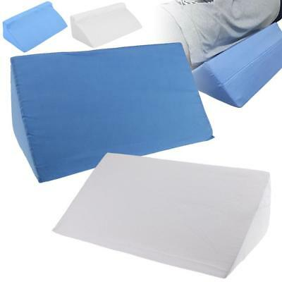 Foam Bed Wedge Pillow Elevation Cushion Washable Cover Lumbar Back Leg Support
