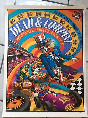 Dead and Company Poster Deer Creek Noblesville IN 2018 AP mint Indy 500 grateful