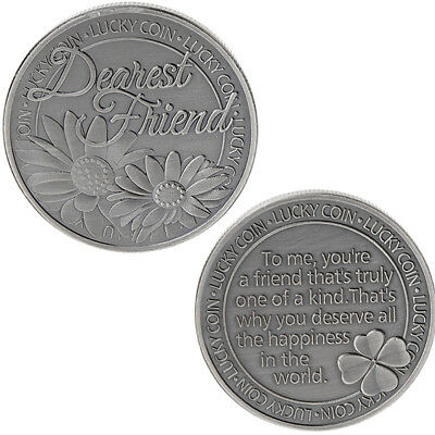 Lucky Words Dear Friend Daisy Commemorative Coin Collection Arts Gifts Souvenir