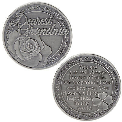 Lucky Words Happiness Flower Commemorative Coin Collection Arts Gifts Souvenir