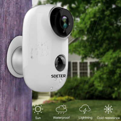 100% Wire Free 1080P Battery Power Home Security IP Camera PIR Wifi Outdoor Cams