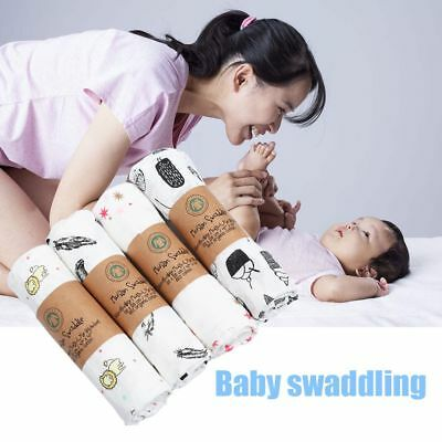 Infant Newborn Baby Soft Muslin Cotton Swaddling Blanket Swaddle
