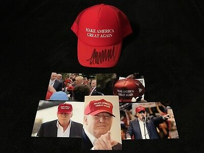 donald trump signed autographed MAGA red hat