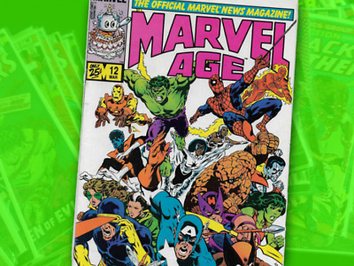Marvel Age Annual and Marvel Age #1 - #72 1984 - 1989 Spider-Man's black costume