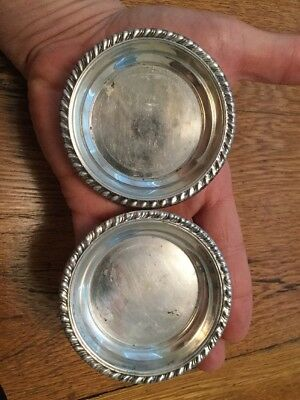 2 Small Vintage Revere silver co. Sterling SILVER BUTTER or NUT DISHES