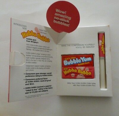 Vintage RARE - HUBBA BUBBA Advertising - Product Introduction to Distributors