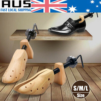 Wooden Shoes Stretcher Expander Shoe 2-Way Tree Unisex Bunion Plugs AU STOCK