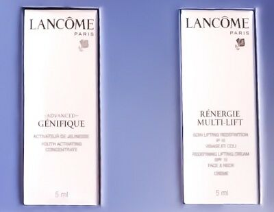 LANCOME Advanced Genifique Jeunesse Serum + Renergie Multi Lift Creme Probe 5 ml