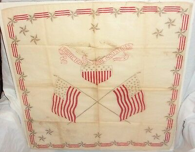 RARE 1840's? US American 26 Star Flags PROTECTION HOME INDUSTRIES Bandana with &
