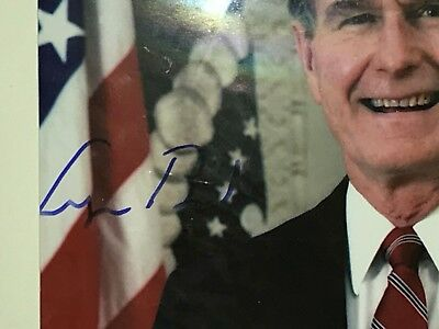 GEORGE H BUSH Autograph COA President Signed Photo Genuine AUTO