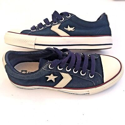 Converse One Star Men Size 5 Women 7  Blue Suede Leather Low Top Shoes Sneakers