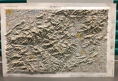 Vintage Topographical 1:250,000 Map of Knoxville, Tennessee