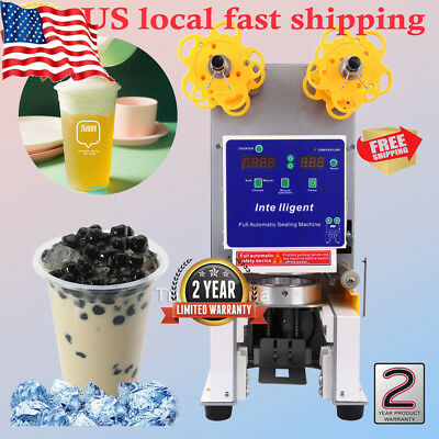 Electric Full Automatic Bubble Tea Cup Sealer Sealing Machine 750 Cups/Hr