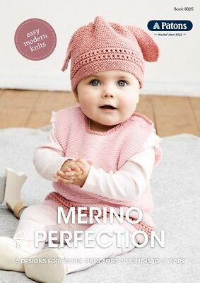 Knitting Pattern Book - 6 Designs in 4-8ply - Merino Perfection - 3months to 4yo