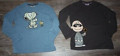 Boys Hanna Andersson Halloween Peanuts Snoopy Charlie Brown Shirt 120 6/7 Lot