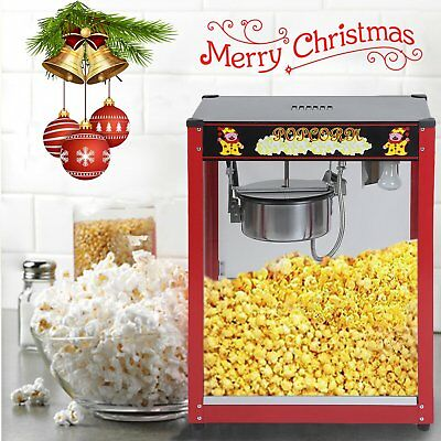1370W Commercial Stainless Steel 8oz Popcorn Machine Cooker Tempered Glass PE