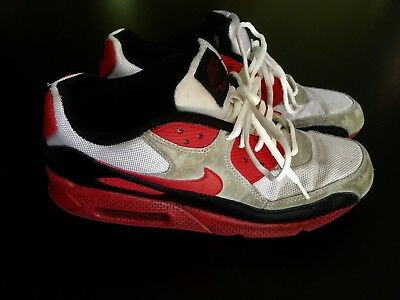 online store b8340 b57fb Vintage Nike Air Max Sneakers 90 South Size 9.5 Red Black White 2009 325018 -161