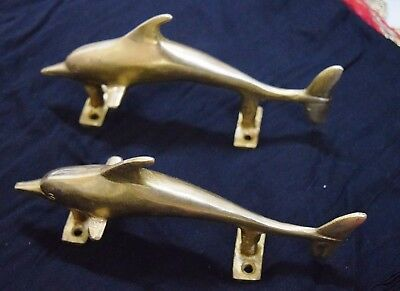 Golden Brass Door Handle Sea Dolphin Designed Door Pulls Cupboard Knobs BM544