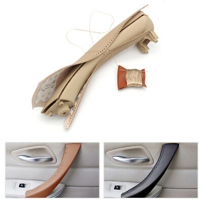 Hand Sewing Inner Door Handle Leather Cover For BMW 3 Series E90 E91 E93 05-12