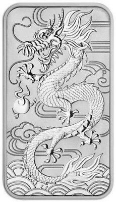 2018 Fine Silver Perth Mint Dragon Rectangle Coin - Low Mintage Investment