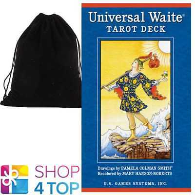 Universal Waite Tarot Deck Cards Esoteric Set Us Games Systems With Velvet Bag