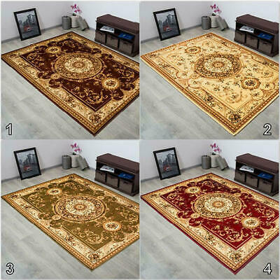 Small to Extra Large Classic Rug Medallion Pattern Oriental Ornaments Soft Touch