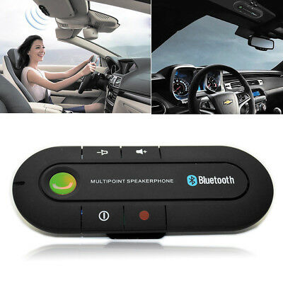 Wireless Bluetooth Handsfree Car Auto Kit Speakerphone Speaker for MP3 Phone New