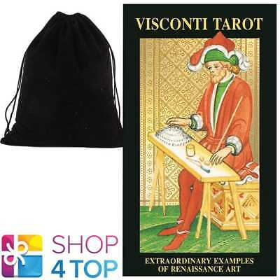 Visconti Tarot Deck Cards Esoteric Telling Lo Scarabeo With Velvet Bag New