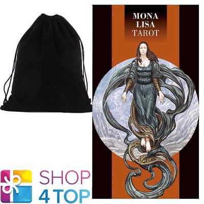 Mona Lisa Tarot Deck Cards Esoteric Telling Lo Scarabeo With Velvet Bag New