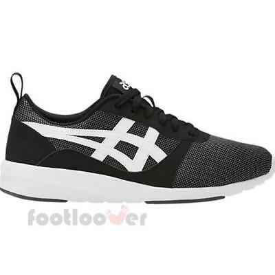 Asics Lyte Jogger HN7Z2 9001 Mens Black White Shoes Casual Running Trainers