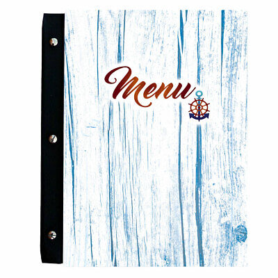 Menu Wooden COVER Holder RESTAURANT PUB Sign Bar Catering meal list A4 Marina
